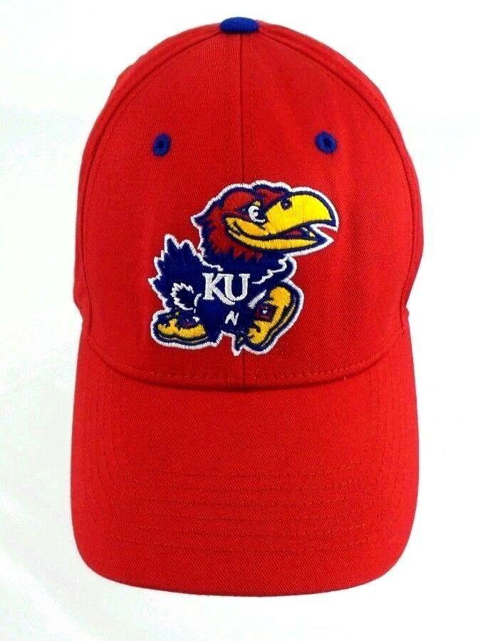 f712db02693 Kansas Jayhawks Dad Hat Cap Adjustable Strapback OSFM NCAA KU KS   CaptivatingHeadwear  KansasJayhawks