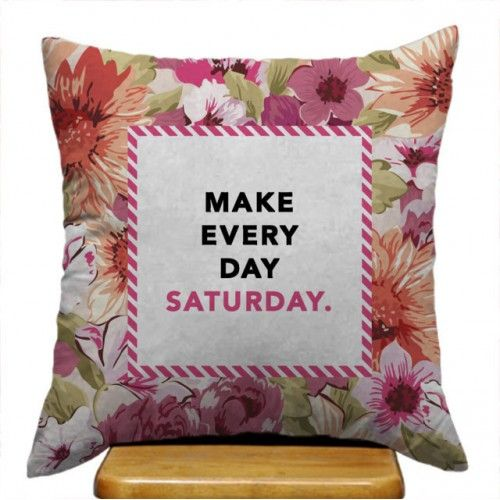Make Every Day Saturday Kate Spade Floral Design Custom Pillow Case