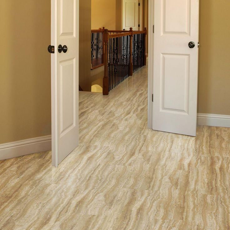 TrafficMASTER Allure 12 In. X 24 In. Ivory Travertine Luxury Vinyl Tile  Flooring (24 Sq. Ft. / Case)