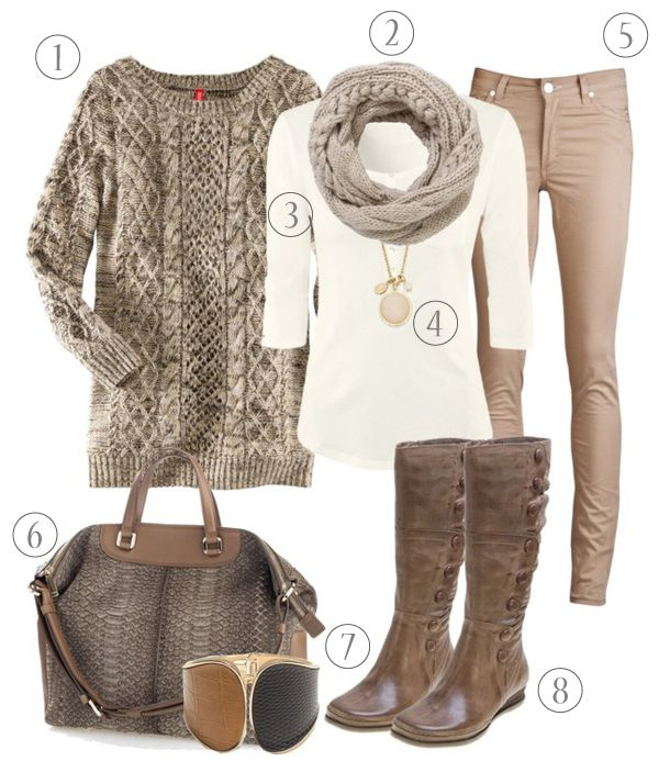 Cozy metallic neutrals. Somehow they make an outfit look more expensive!