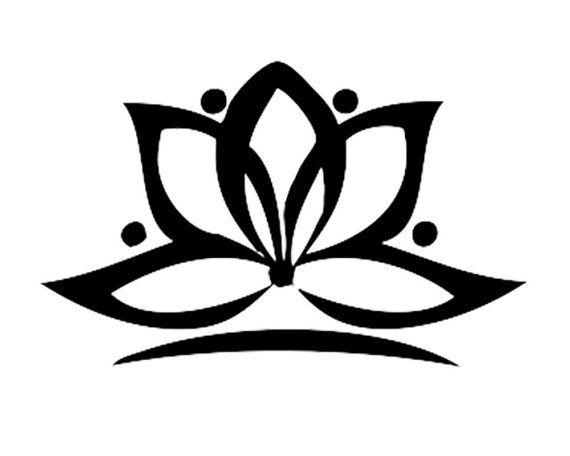 Tatuaje de Yoga de flor de loto juego de 2  Tatuaje de