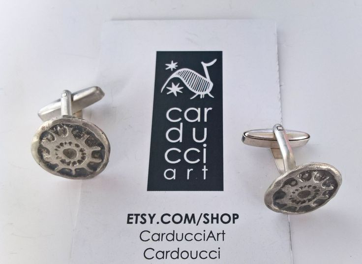 Silver Old Coin Cufflinks Handmade Silver Relief Cufflinks Gift For Him Graduation Gift Men's Gift Boyfriend Gift Husband Gift Father's Gift by CarducciArt on Etsy