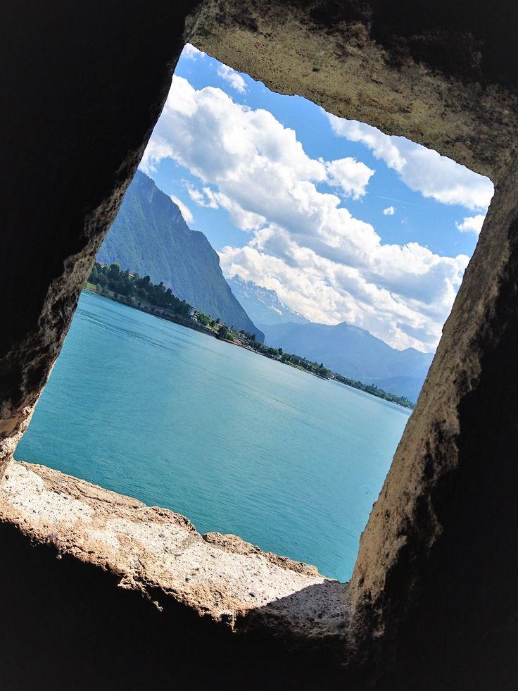 Prison view, Castle Chillon, Swotzerland.