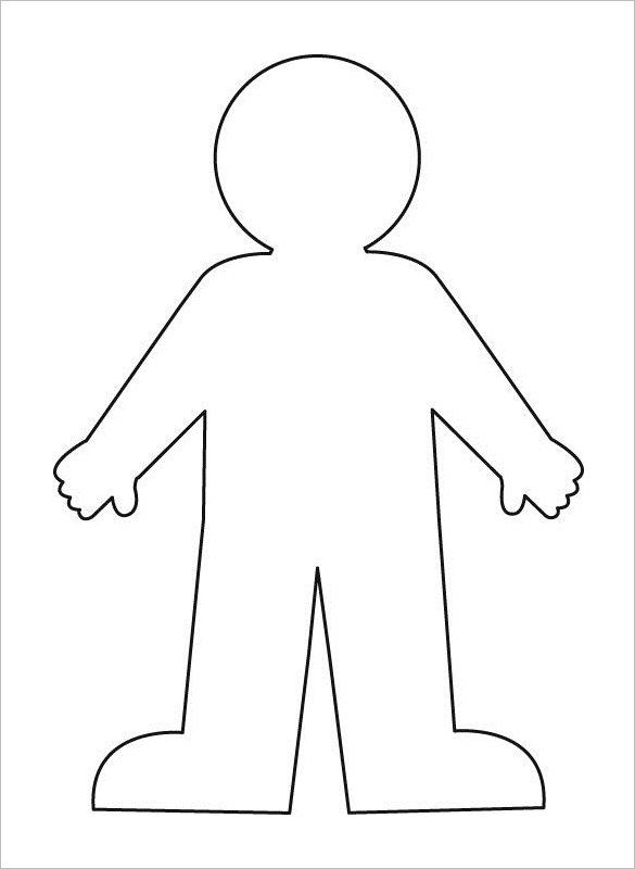 Body Outline Template – 21+ Free Word, Excel, PDF Format ... Outline Of A Human Body