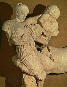 "Centaur: ""Lapith Woman and Centaur"" sculpture"