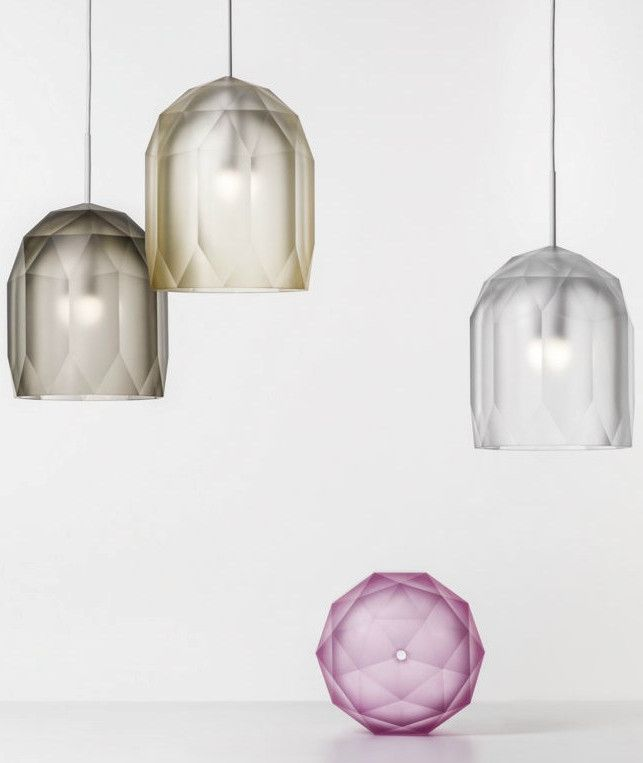 LED blown #glass pendant #lamp POLYGON by Lasvit | #design Jan Plechac, Henry Wielgus @lasvit