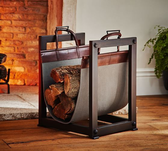 Industrial Log Carrier/ Holder | Pottery Barn