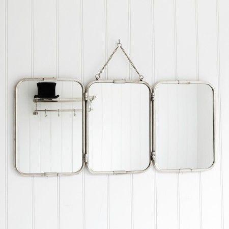 Tri-Fold Wall Hung Mirror