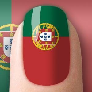 Como fazer unhas decoradas com a bandeira de Portugal