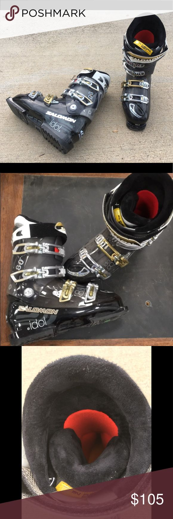 Salomon Idol 8 snow ski boots size 9.5 Like brand new condition with very few minor scuffs. Weight is 10 lbs so you'll need include shipping. Salomon Shoes Winter & Rain Boots