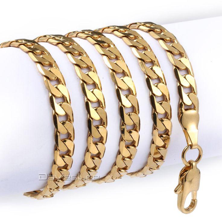5mm Herren Kette Weiße Rose Gelbes Gold Füllte Halskette Frauen Wohnung Curb Link Großhandel Maßgeschneiderte Halskette Schmuck LGNM89