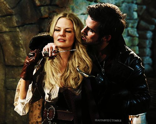 In which Emma Swan, Captain of the Golden Beetle, wile on the run from the Queen seduces the infamous Captain Hook. He believes she is but a bar wench, until he wakes up the next morning and finds himself tied to his bed, missing most of his personal effects.