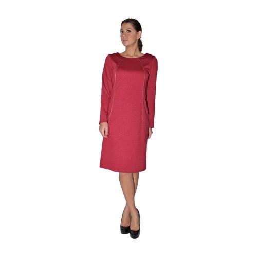 Φόρεμα μπορντό με διακοσμητικο φερμούαρ