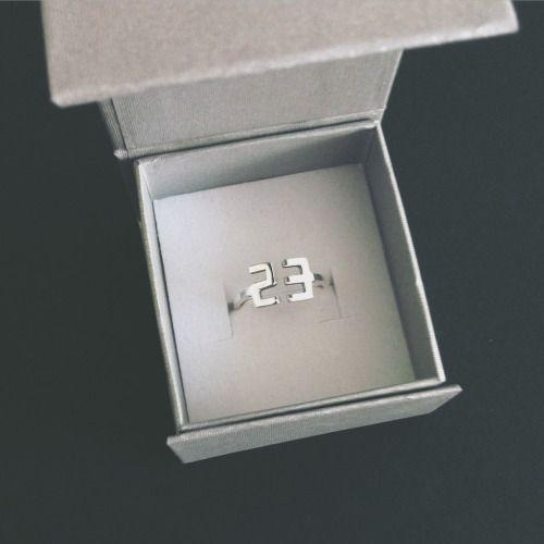 "Silver ""23″ Ring - custom order"