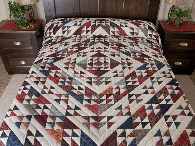 Стая гусей Medallion Одеяло - отличный тщательно сделанные амишей одеяла из Ланкастера (hs6517)