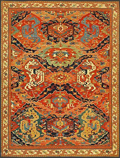 Turkish Dragon Rug Oriental Rug #43904