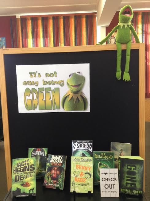 Library Displays: It's not easy being GREEN!