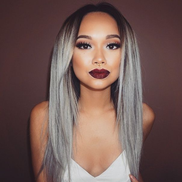 1000 ideas about cheveux gris femme on pinterest gray hair coloration cheveux blancs and modele cheveux court - Dcolorer Cheveux Colors