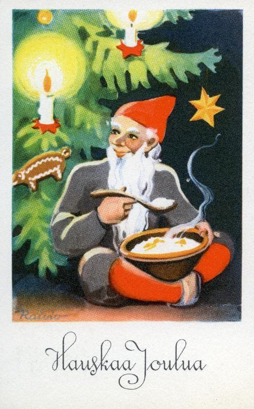 Hauskaa Joulua #joulu #joulukortit #tontut #joulukuusi #christmascards  Kirjavälitys Osakeyhtiön arkisto