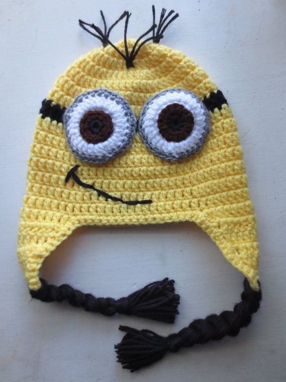 Crocheted Despicable Me Minion Hat by LovelyLizardDesigns on Etsy