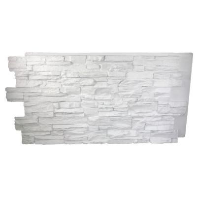 Superior Building Supplies Dove White 24 In X 48 In X 1 1 4 In Faux Grand Heritage Stack