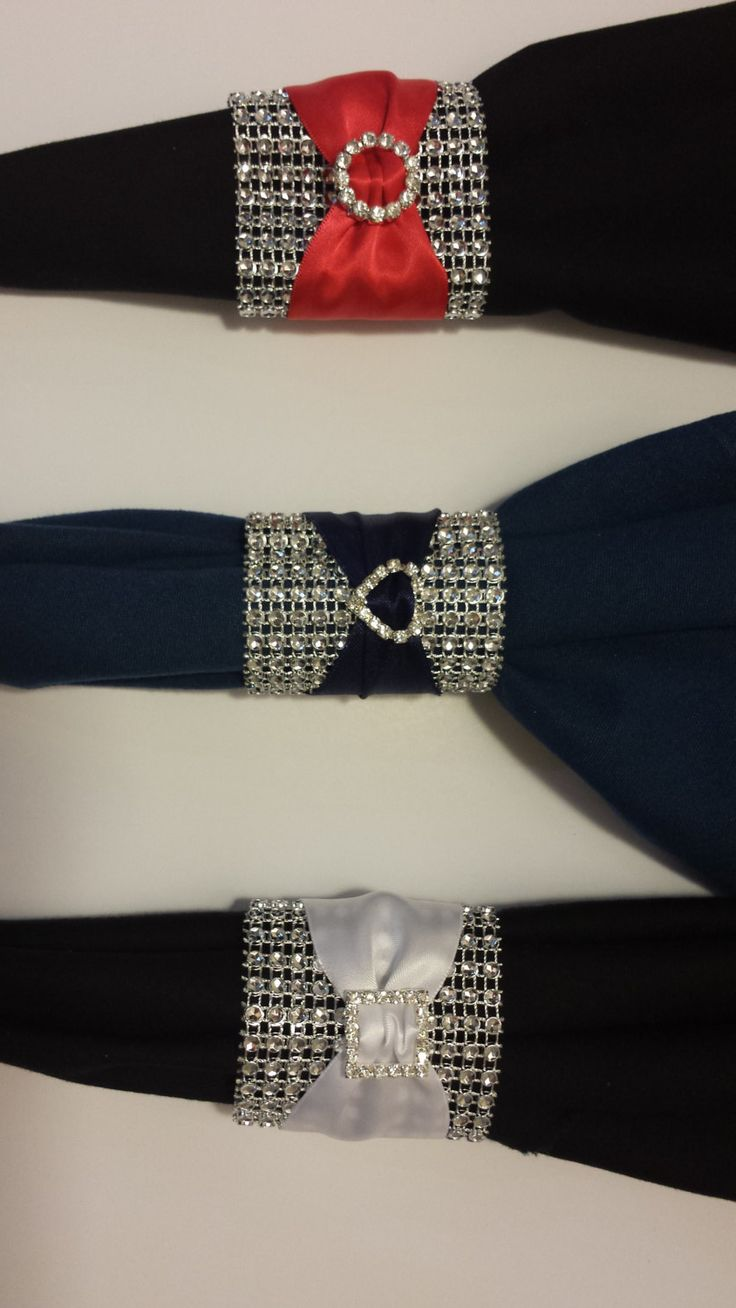 Set of 25 Elegant Buckled Napkin Rings by StylishStatements, $30.00