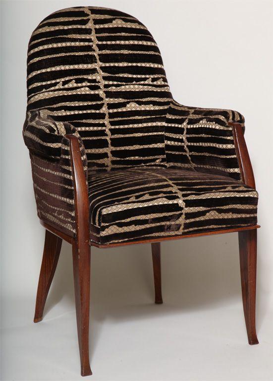 1929 fauteuil en palissandre jacques emile ruhlmann