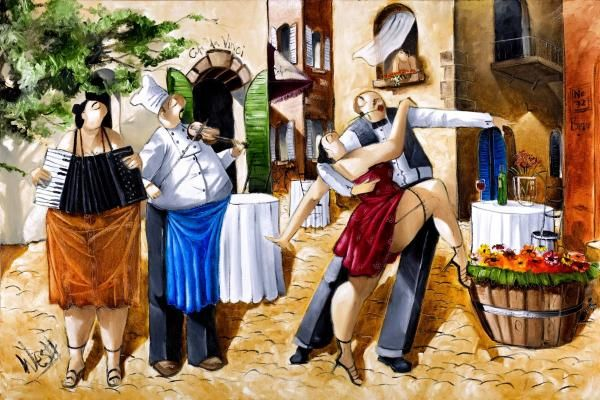 Ronald West - Street Dancing - art prints and posters