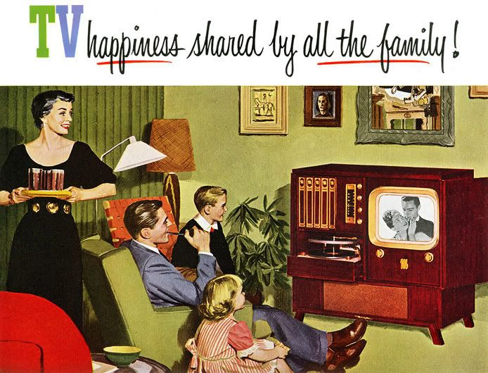 Image result for advert about television 1950