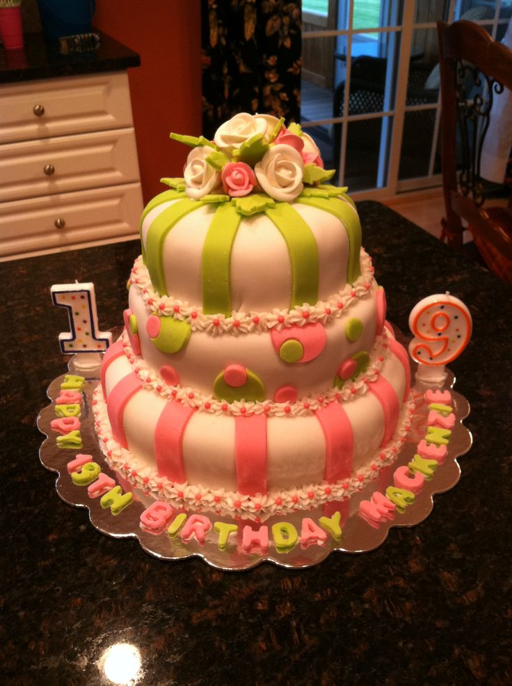 19th Birthday Pink And Green 19th Birthday
