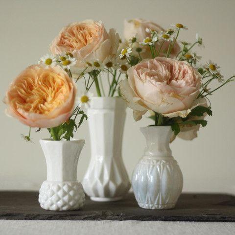 The Wedding of My Dreams - White Glass Bud Vase #wedding #theweddingofmydreams