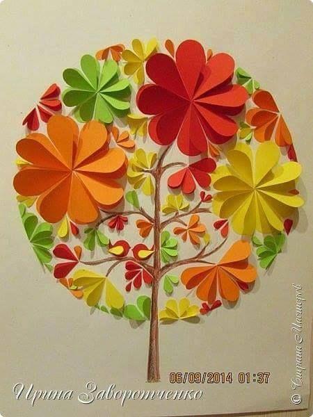 Creative paper wall arts #diy, #crafts, #paper