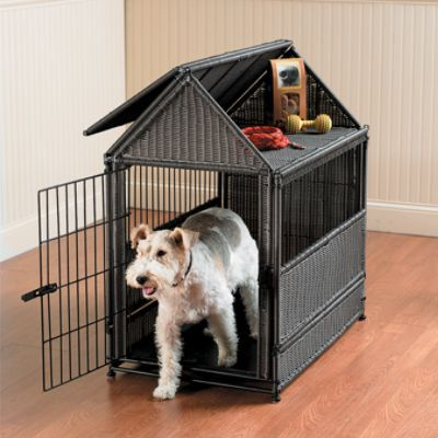 Wicker Dog House - one for Daisy, One for Kodi - sorry Molly they don't come in Giant size...