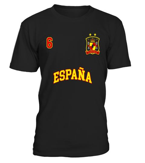 """# Spain Shirt Number 6 + BACK Soccer Team Spanish Flag Espana .  Special Offer, not available in shops      Comes in a variety of styles and colours      Buy yours now before it is too late!      Secured payment via Visa / Mastercard / Amex / PayPal      How to place an order            Choose the model from the drop-down menu      Click on """"Buy it now""""      Choose the size and the quantity      Add your delivery address and bank details      And that's it!      Tags: Spain Soccer Team Shirt…"""