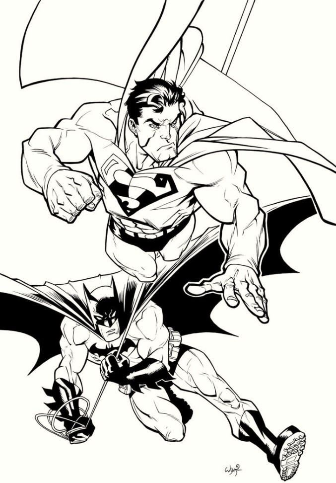 Batman And Superman Coloring Pages For Boys | Superman ...
