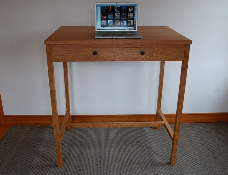 Cherry Stand Up Computer Desk By Hawk Ridge Furniture, A Member Of The  Guild Of
