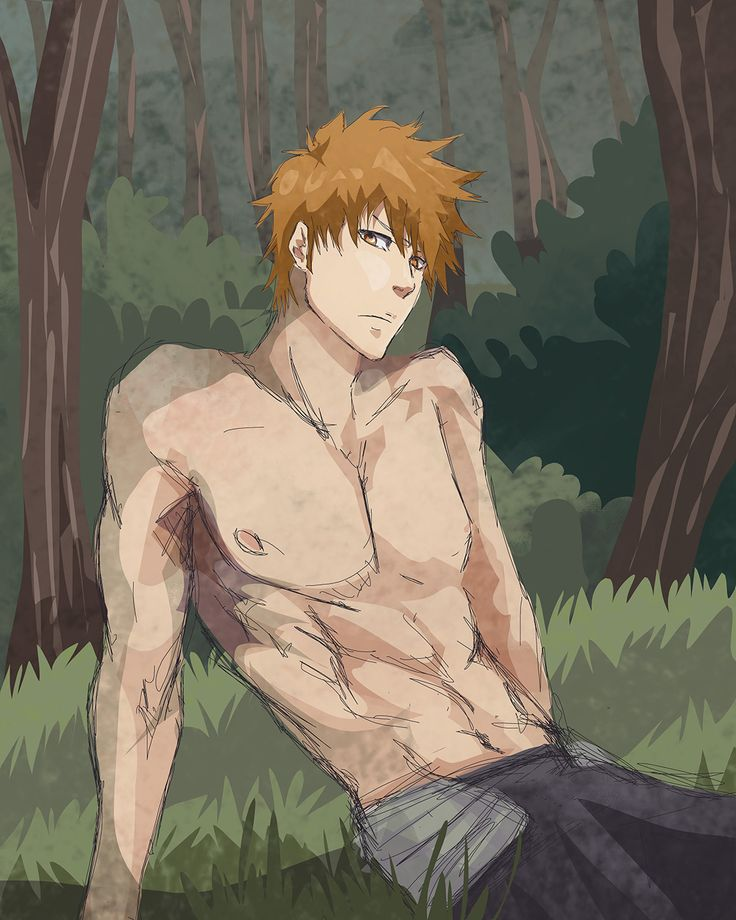 Re-watching Bleach is being so much fun right now and inspiring to make lots of new great fanart. Here is a hot Ichigo taking a break after some hard training