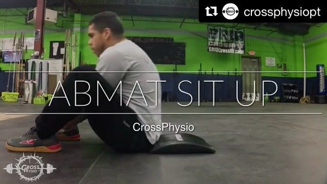 #Repost @crossphysiopt (@get_repost)  FOUNDATIONAL FRIDAY AbMat Sit Up  Thats right the sit up. A seemingly simple movement that is done relatively often but could be done inappropriately. While it isnt likely to cause any type of pain or injury if done wrong if you ever compete or just want to be sure you get full credit for your reps its important to know whats expected!    Shoulders and hands contact the ground at the bottom  Hips stay on the ground as well  Use momentum to perform reps…