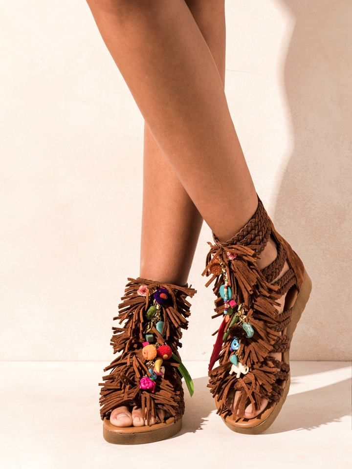 Leather sandals Fortune Teller, ELINA LINARDAKI Elina Linardaki