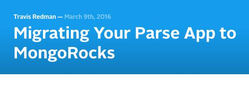 Migrating Your Parse App to MongoRocks