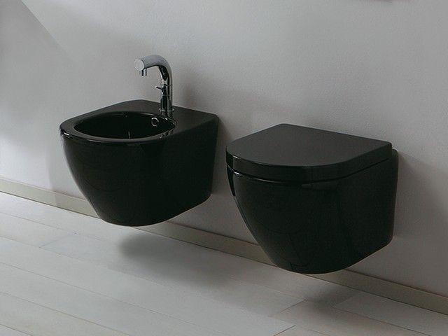 26 best images about sanitari bagno sospesi on pinterest for Sanitari neri