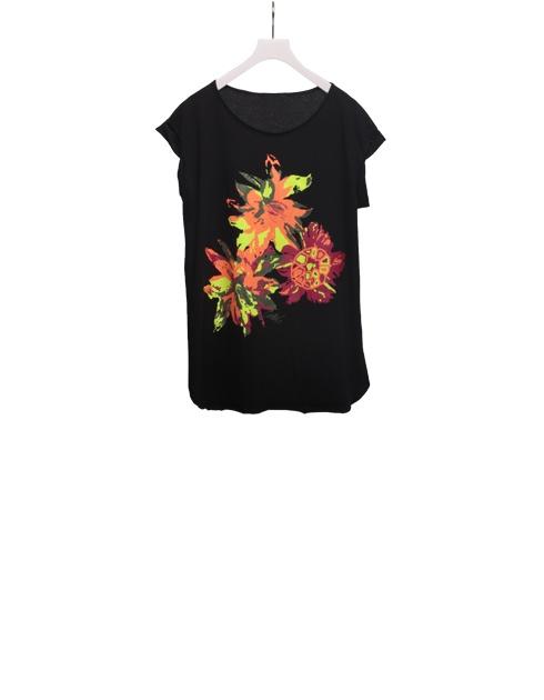 Carla G. Moda Donna Collezione 2012 - Maglia in jersey cotone con stampa a fiori