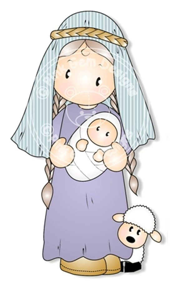 Digital Digi Nativity Chloe. Makes Cute by PinkGemDesigns on Etsy