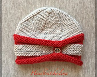 "Instant Download Knitting Pattern Hat ""Sweetheart"" #241"