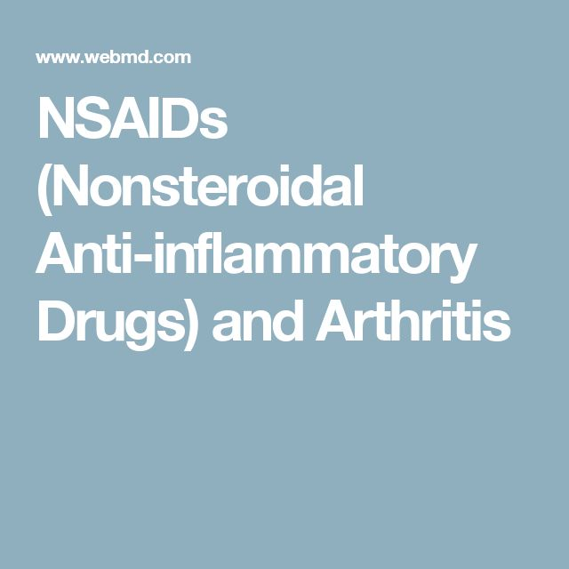 NSAIDs (Nonsteroidal Anti-inflammatory Drugs) and Arthritis