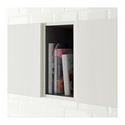 IKEA - TUTEMO, Open cabinet, You can mount the cabinet either as an end shelf on the side of your wall/base cabinets or between them for a practical open storage solution.