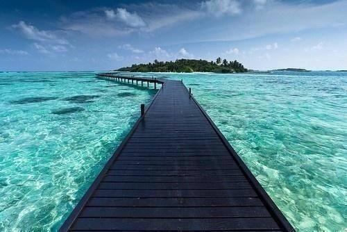 Take a stroll in Bora Bora.