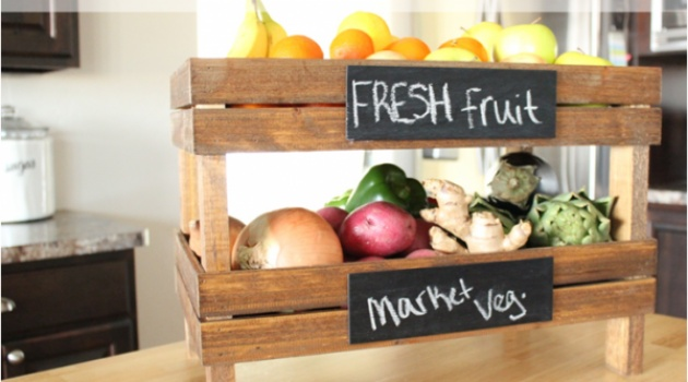 DIY Produce stand for the counter