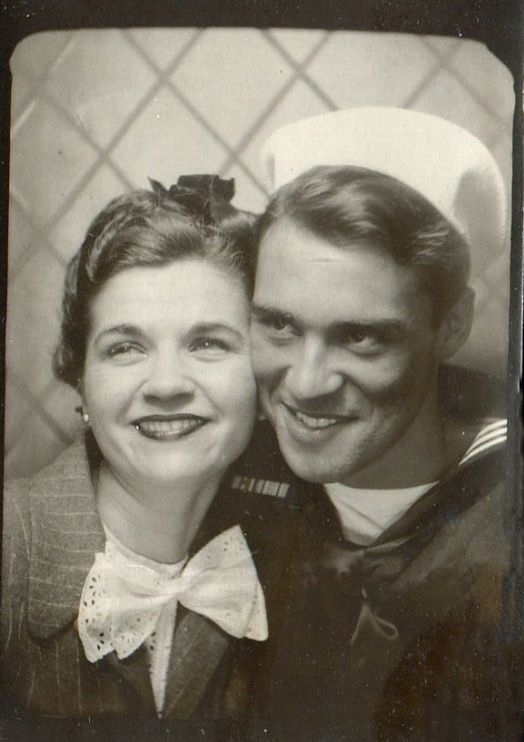 A sailor and his gal, 1940s: