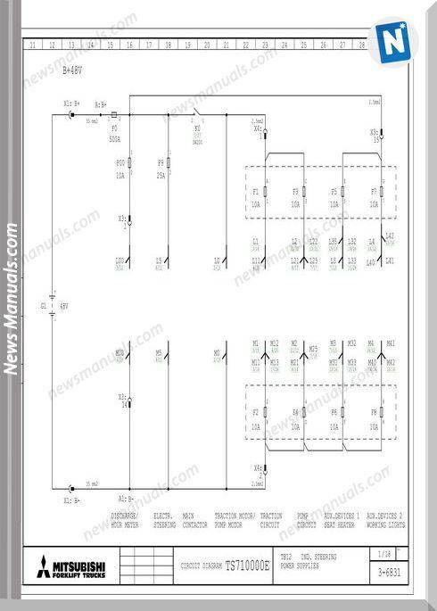 mitsubishi forklift trucks ts71000e circuit diagrams chevy 350 starter wiring diagram mitsubishi fuso wiring diagrams